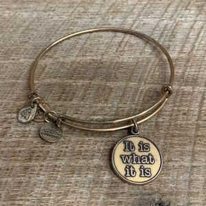 Alex and Ani It Is What It Is Gold Tone Bracelet